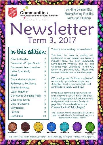 2017 Term 3 CfC Newsletter