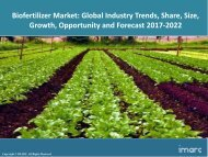 Global Biofertilizer Market Analysis, Share, Size and Forecast 2017-2022