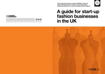 A guide for start-up fashion businesses in the UK - Nesta