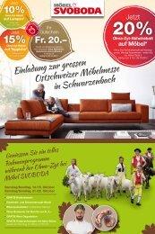 Einladung zur grössten Ostschweizer Möbelmesse in Schwarzenbach