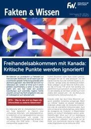 FW-CETA - kritische Punkte werden ignoriert