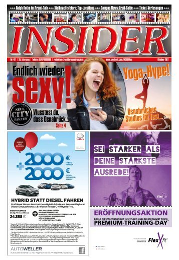 INSIDER Osnabrück // Oktober 2017 // No. 411