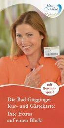 Infoheft Kur- und Gästekarte Bad Gögging