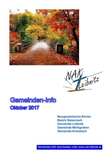 Gemeindeinfo Oktober 2017