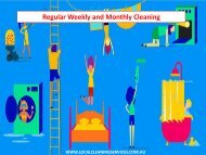 Regular Weekly and Monthly Cleaning  - Local Cleaning Services