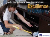 Regular Weekly Cleaning - Local Cleaning Services