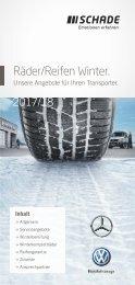 SCHADE Räder/Reifen Mercedes-Benz Transporter Winter 2017/2018