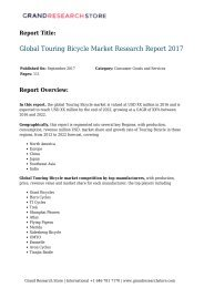 Global Touring Bicycle Market Research Report