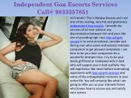 Independent Goa Escorts Services