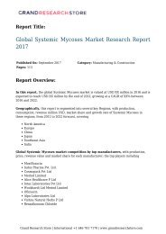 Global Systemic Mycoses Market Research Report