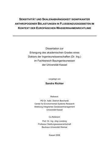 sensitivität und skalenabhängigkeit signifikanter - KOBRA ...