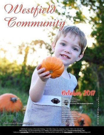Westfield Community October 2017