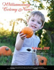 Williamsburg Colony October 2017