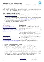 Agenda 21 Netzwerktreffen_Breitbandinfos