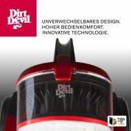 Dirt Devil INFINITY REBEL55HF - Dirt Devil Produktkatalog Rebel Serie Staubsauger mit und ohne Beutel