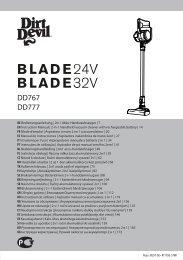 Dirt Devil Blade 32V Total - Bedienungsanleitung für Dirt Devil Blade 32V
