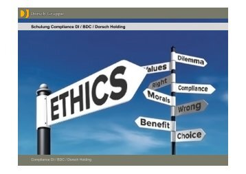 Schulung Compliance Dorsch Gruppe