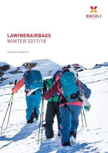 Lawinenairbag Rucksäcke Booklet 2017/2018
