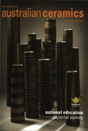 The Journal of Australian Ceramics Vol 47 No 2 July 2008