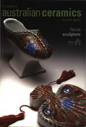 The Journal of Australian Ceramics Vol 48 No 1 April 2009