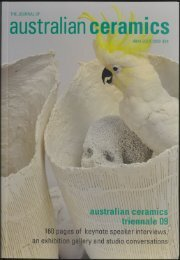 The Journal of Australian Ceramics Vol 48 No 2 July 2009