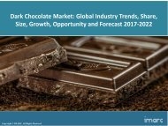 Global Dark Chocolate Market Trends, Share, Size and Forecast 2017-2022