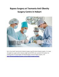 Bypass Surgery at Tasmania Anti Obesity Surgery Centre in Hobart