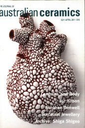 The Journal of Australian Ceramics Vol 50 no 1 April 2011