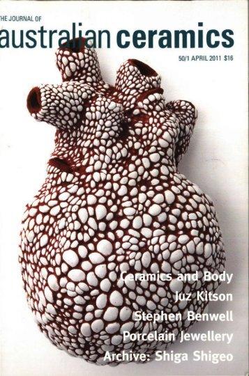 The Journal of Australian Ceramics Vol 50 no 1 April 2011