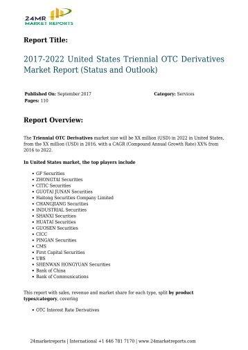 Triennial OTC Derivatives Market Report