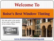 Residential Window Tinting Service in Boise