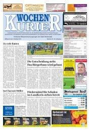 Wochen-Kurier 40/2017 - Lokalzeitung für Weiterstadt und Büttelborn