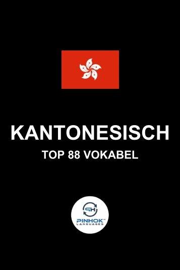 Kantonesisch Top 88 Vokabel