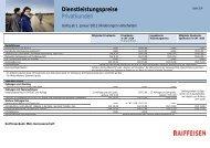 Dienstleistungspreise Privatkunden - Raiffeisen