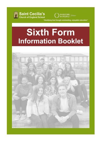 Sixth Form Information Booklet 2018-19