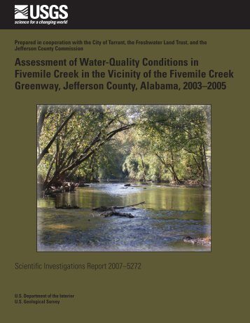 Assessment of Water-Quality Conditions in Fivemile Creek ... - USGS