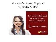 Call 1-888-827-9060 for Norton Support - Install Norton