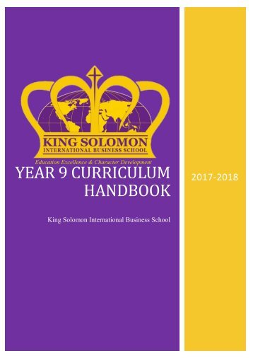 Year 9 Curriculum Handbook