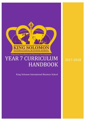 Year 7 Curriculum Handbook
