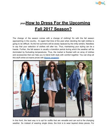 [PDF]How to Dress For the Upcoming Fall 2017 Season?