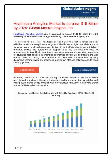 Healthcare Analytics Market