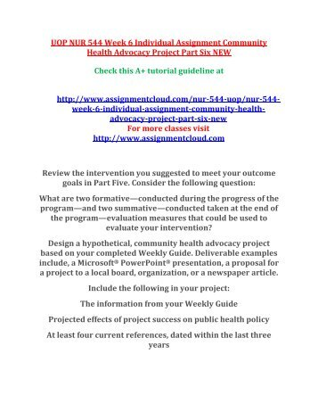 community health advocacy project