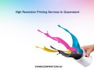 High Resolution Printing Services In Queensland - Chameleon Print Group