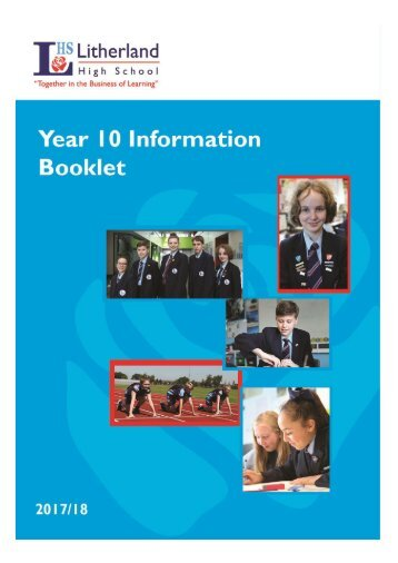 LHS Year 10 Information Booklet 2017-18