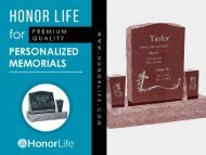 Honor Life - For the Best Headstones in the Industry