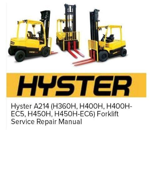 Hyster A214 (H360H, H400H, H400H-EC5, H450H, H450H-EC6
