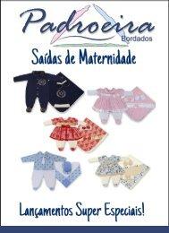 CATALOGO SAÍDAS DE MATERNIDADE - PADROEIRA BORDADOS