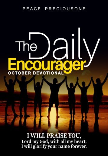 THE DAILY ENCOURAGER DEVOTIONAL - OCTOBER EDITION