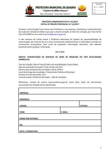 Edital PMQ PP 16_2017_Horas Escavadeira Hidraulica_Exclusivo ME_EPP