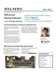 WFA News 2017